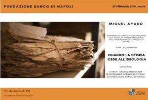Conferenza Miguel Ayuso Fondazione Banco di Napoli