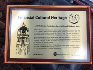 Premio Financial Cultural Heritage 1