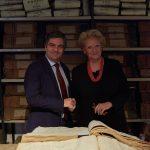 beatrice di borbone al museo dell'archivio storico del bancio di napoli